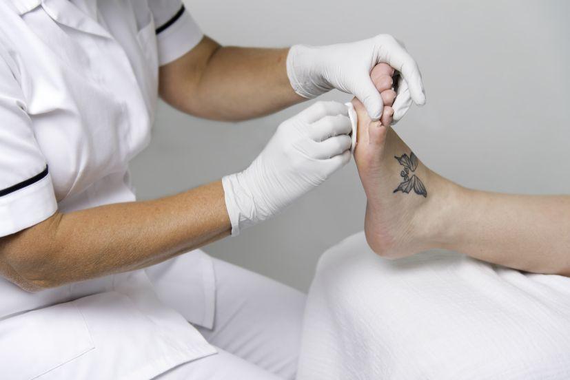 Porturama pedicure desinfectie voet